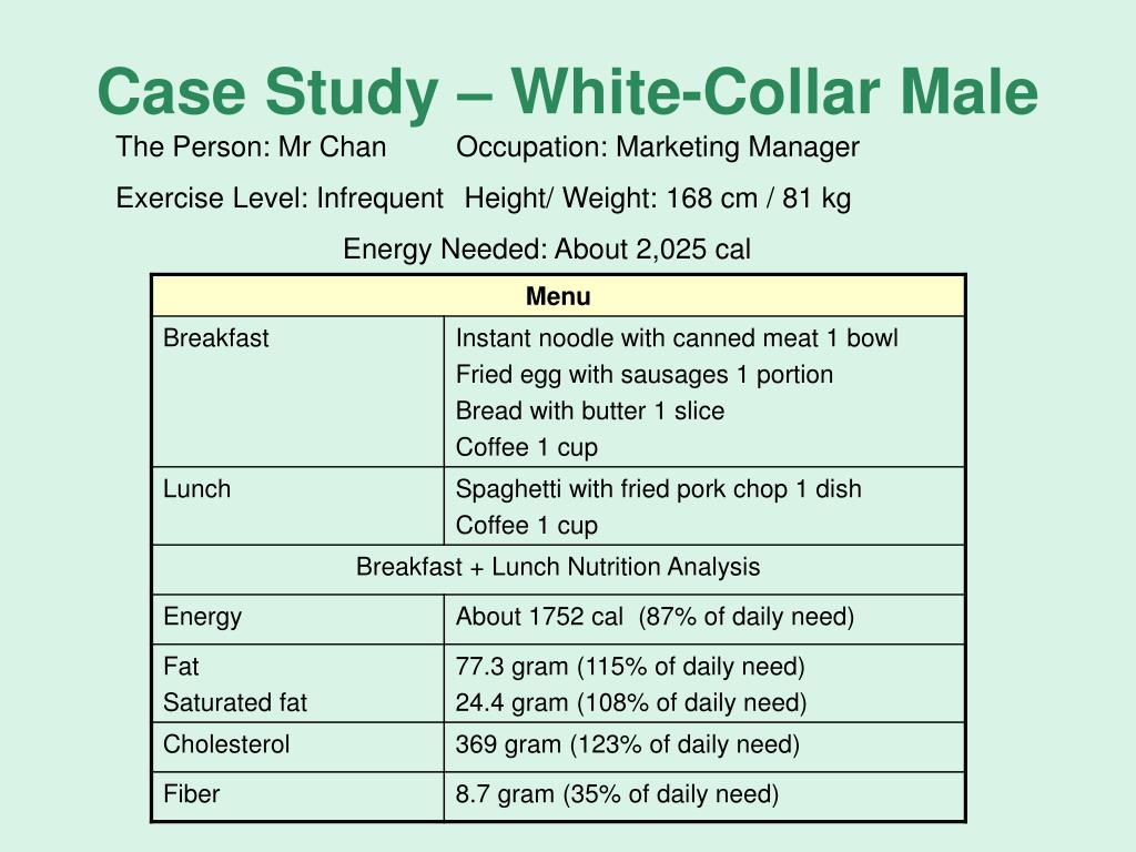 Case Study – White-Collar Male