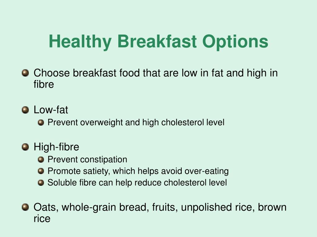 Healthy Breakfast Options