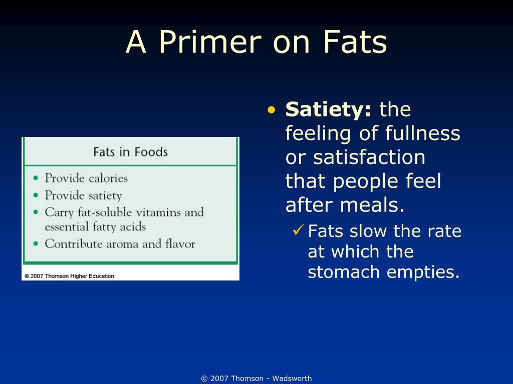 A Primer on Fats