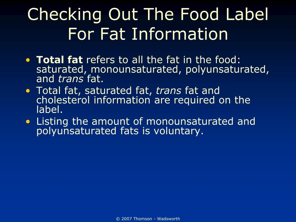 Checking Out The Food Label For Fat Information