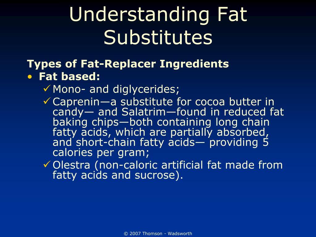 Understanding Fat Substitutes