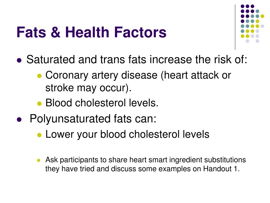 Fats & Health Factors