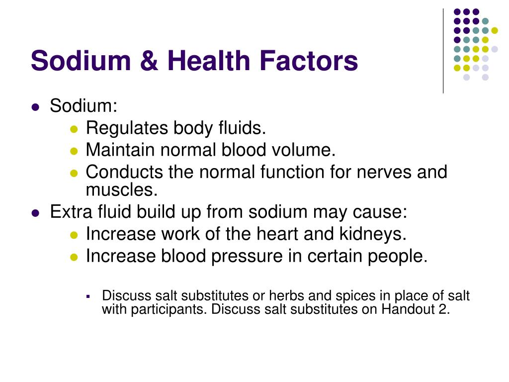Sodium & Health Factors