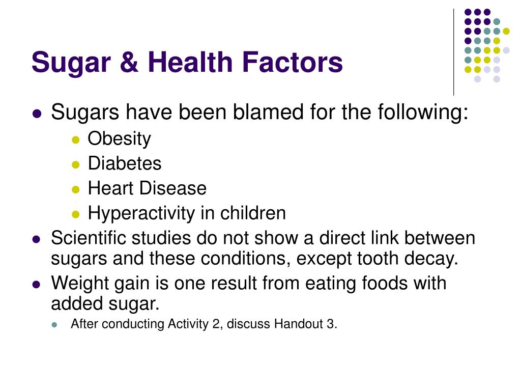 Sugar & Health Factors