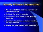 family fitness cooperative