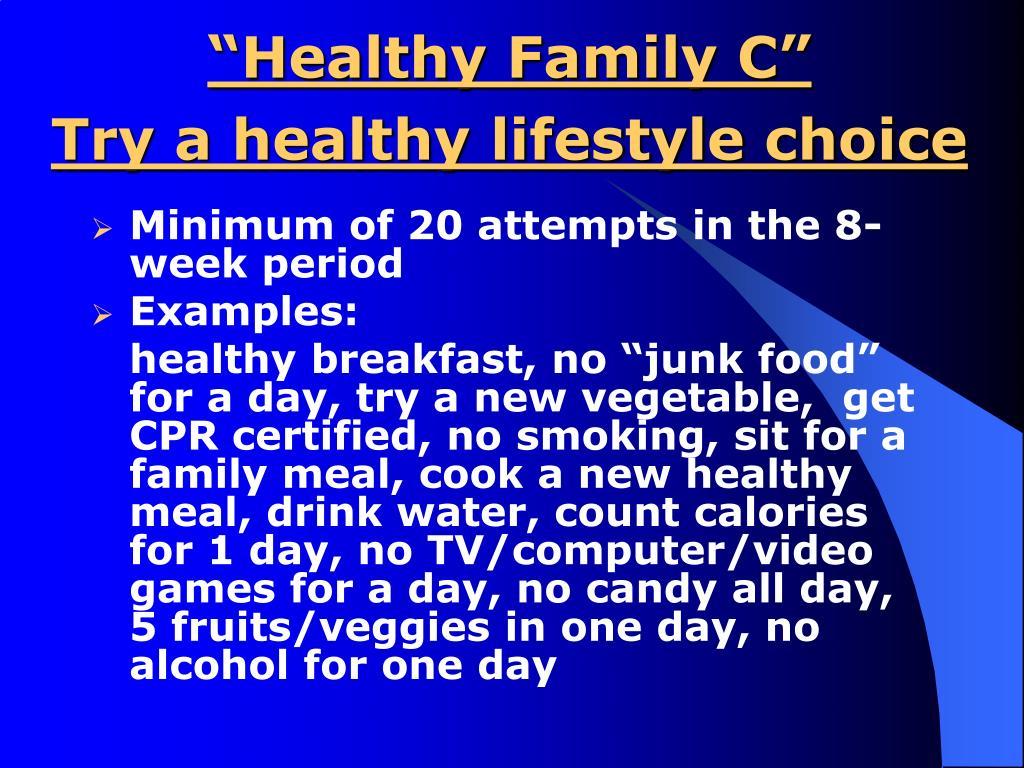 """Healthy Family C"""