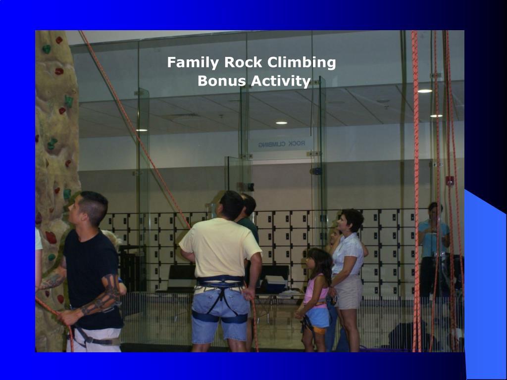 Family Rock Climbing
