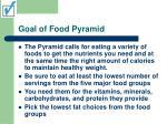 goal of food pyramid