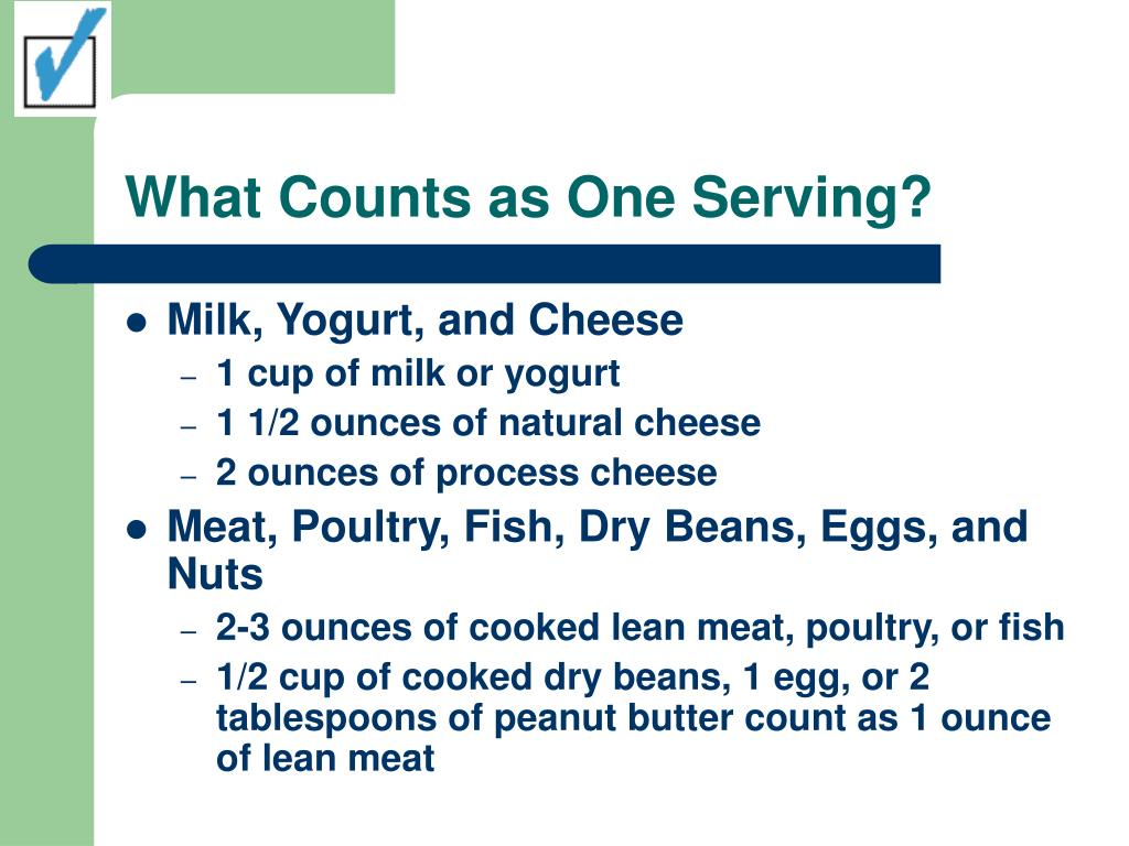 What Counts as One Serving?