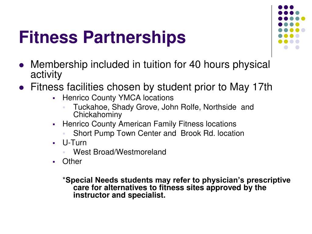 Fitness Partnerships
