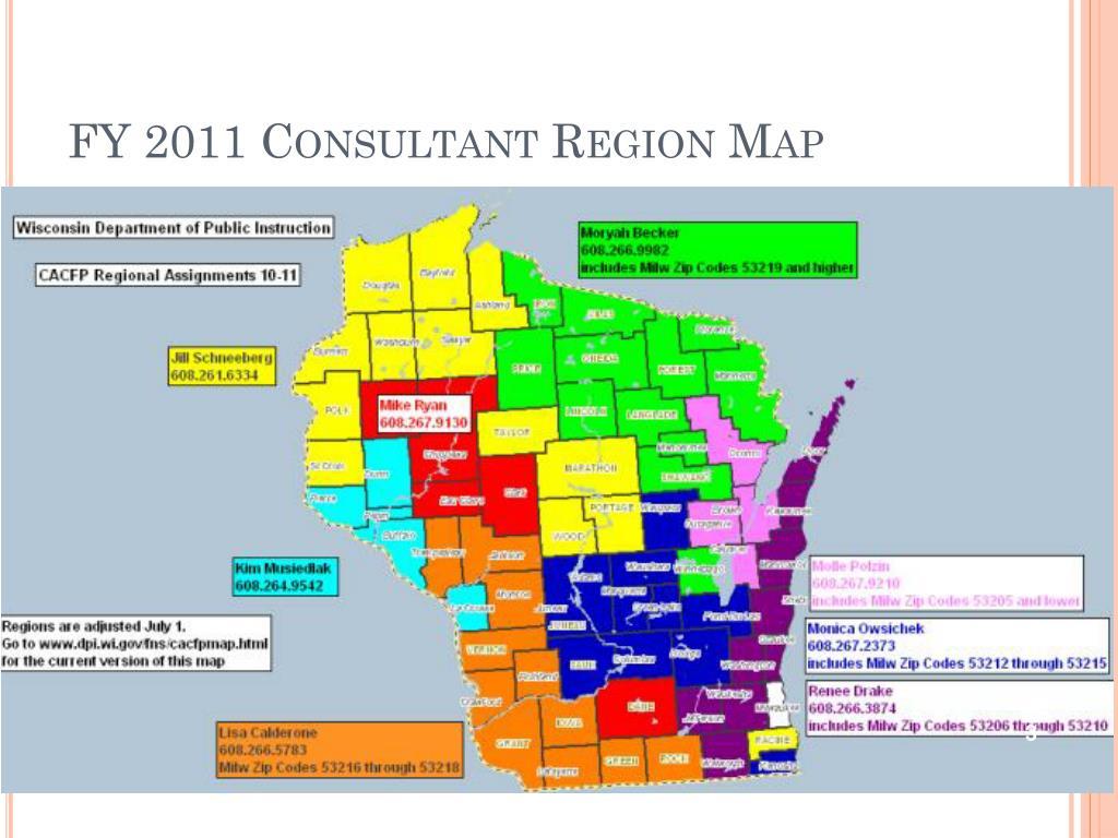 FY 2011 Consultant Region Map