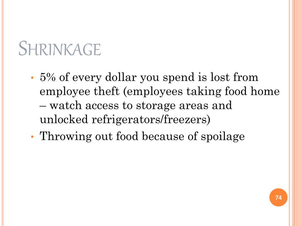 Shrinkage