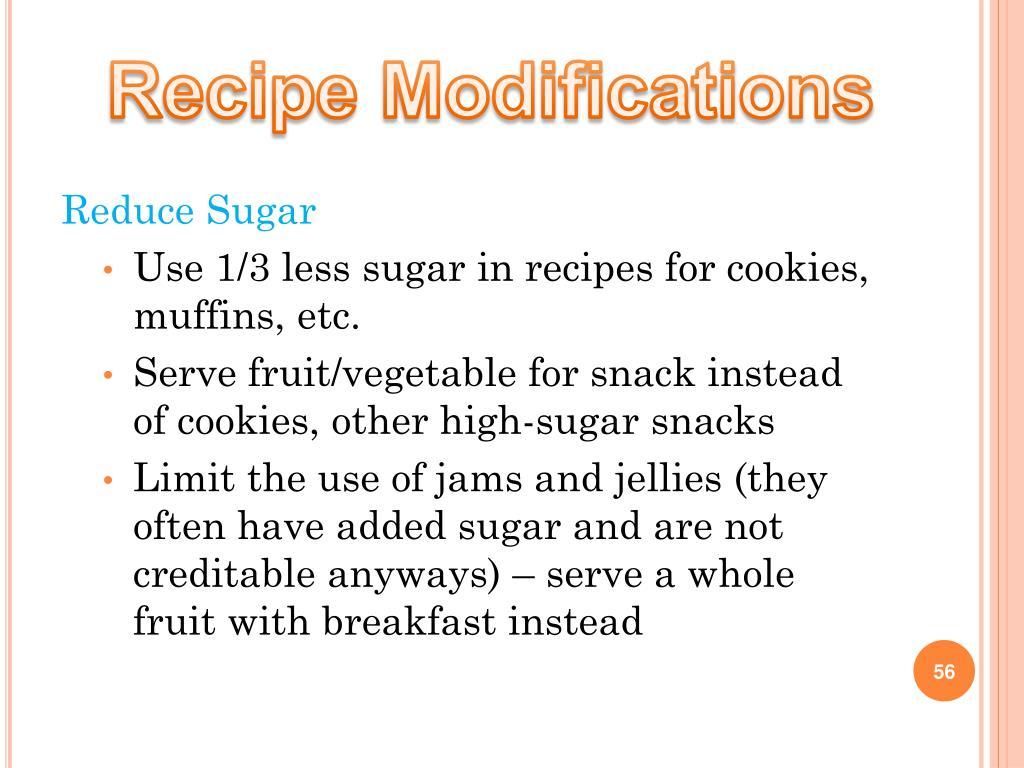 Recipe Modifications