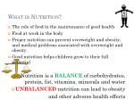 what is nutrition9