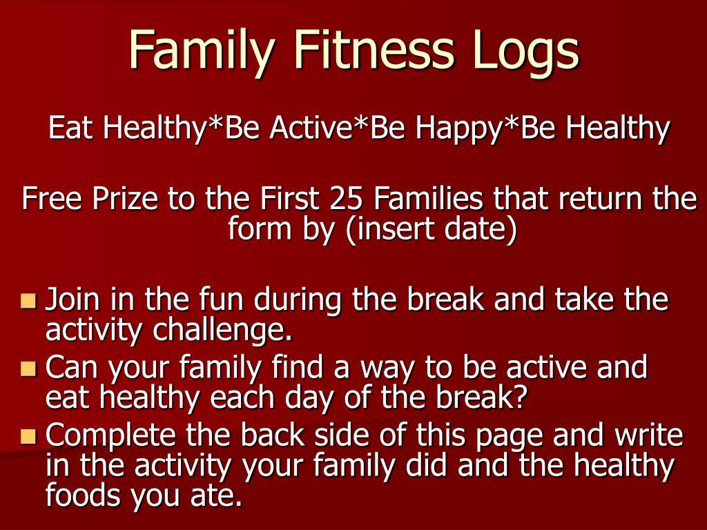 Family Fitness Logs