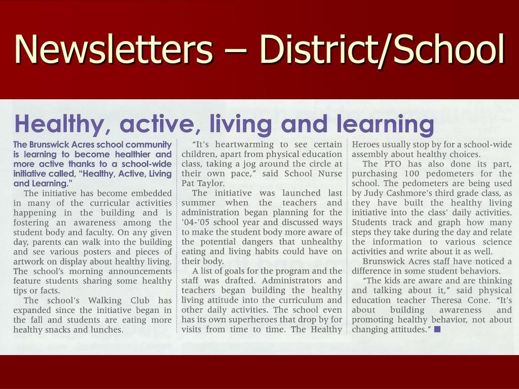 Newsletters – District/School
