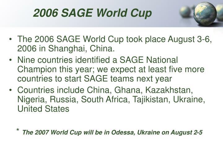 2006 SAGE World Cup