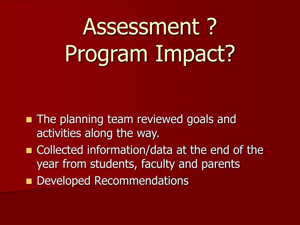 Assessment ?
