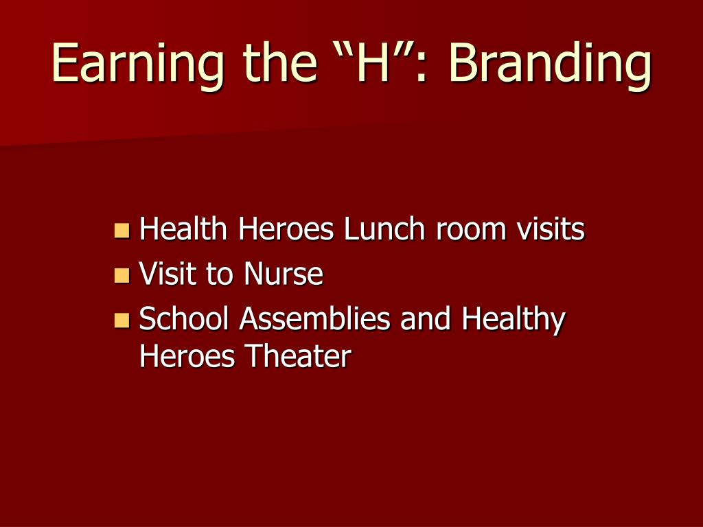 Health Heroes Lunch room visits
