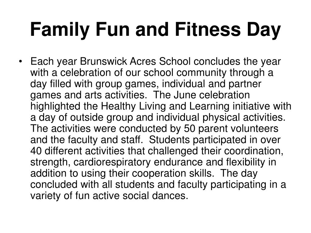 Family Fun and Fitness Day