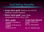 goal setting examples
