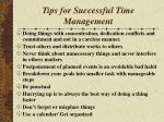 tips for successful time management