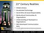 21 st century realities