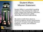 student affairs mission statement