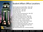 student affairs office locations