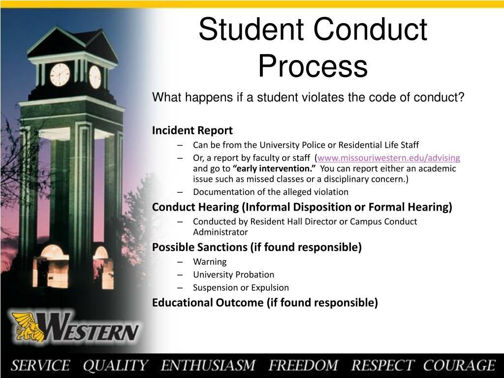 Student Conduct Process