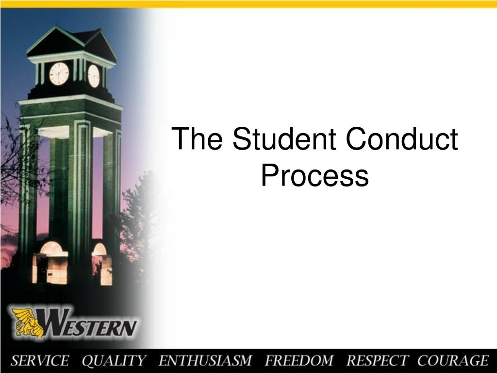 The Student Conduct Process