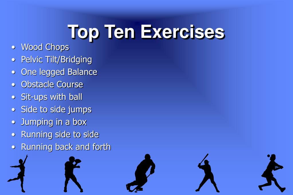 Top Ten Exercises