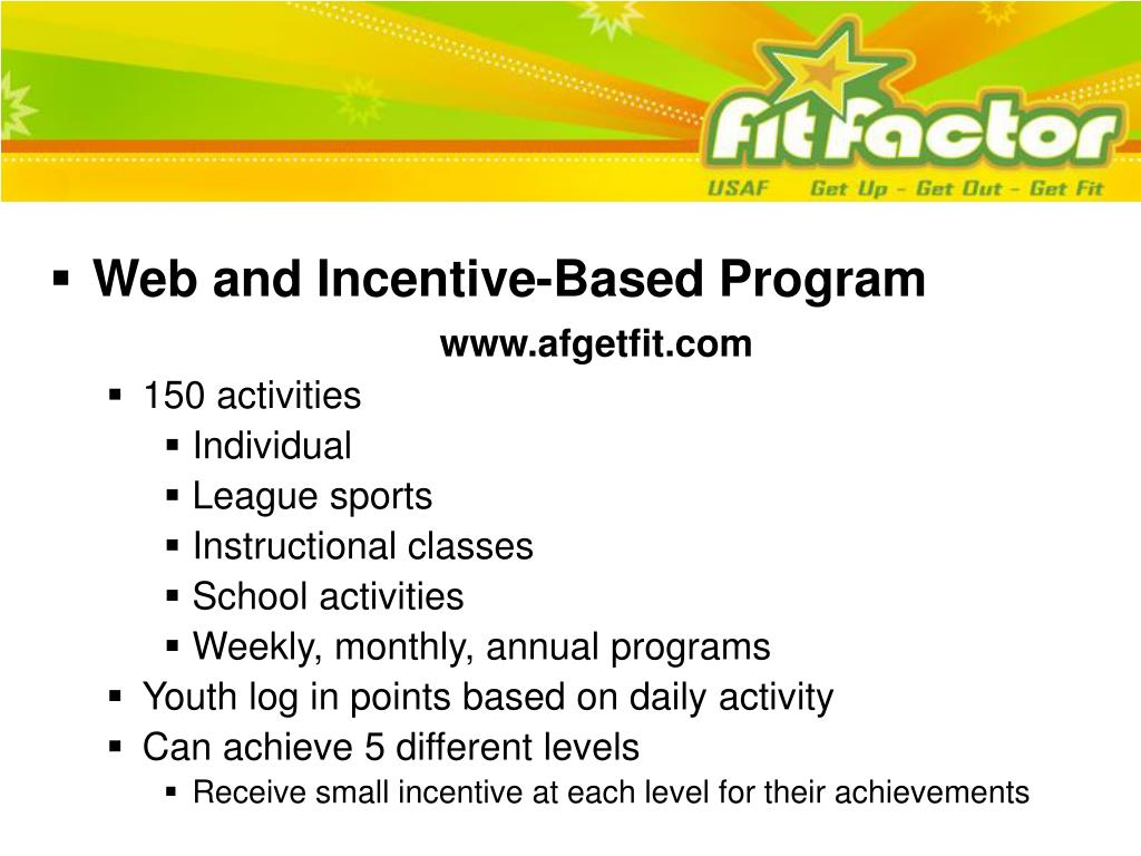 Web and Incentive-Based Program