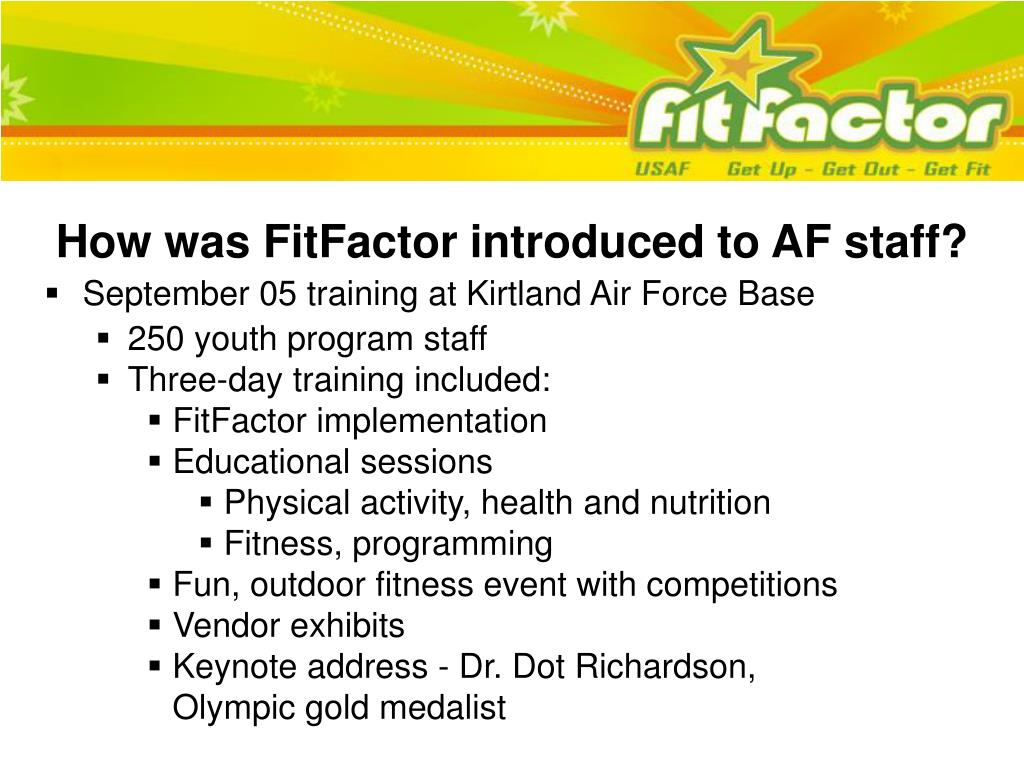 How was FitFactor introduced to AF staff?