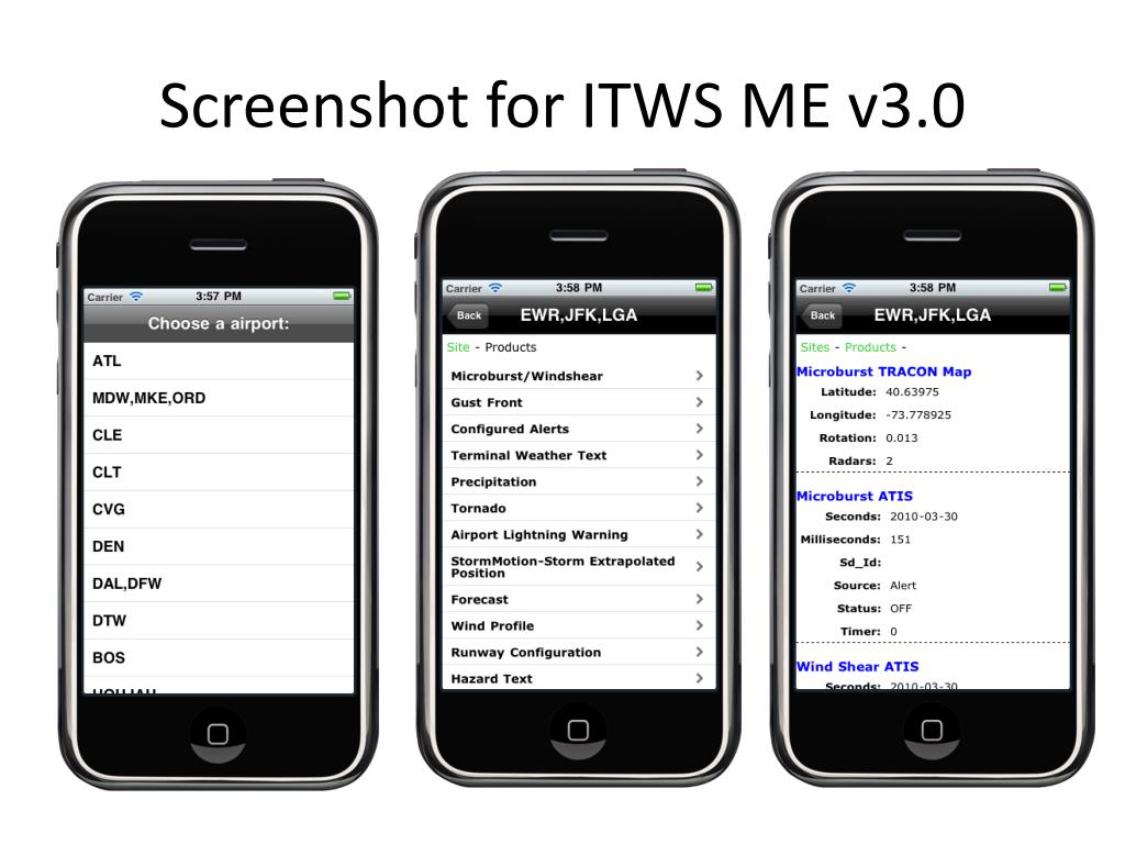 Screenshot for ITWS ME v3.0