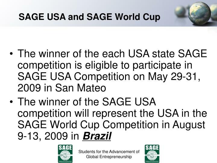 SAGE USA and SAGE World Cup
