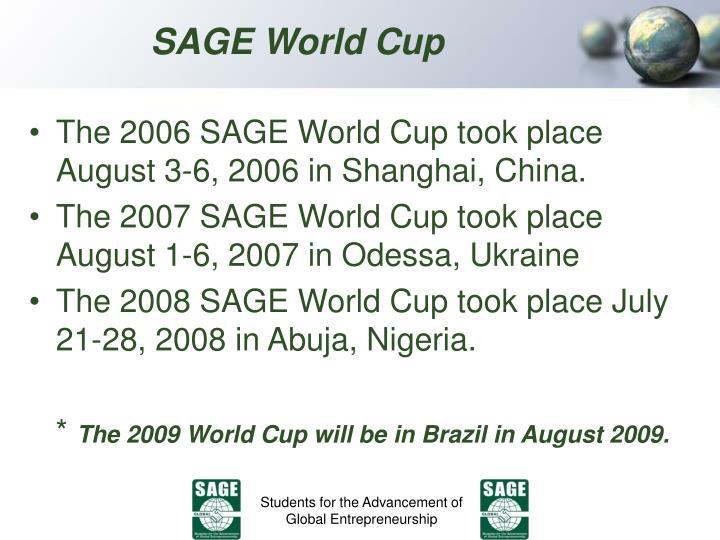 SAGE World Cup
