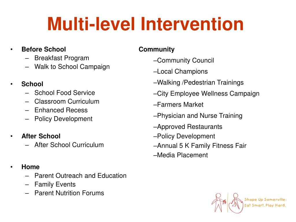 Multi-level Intervention