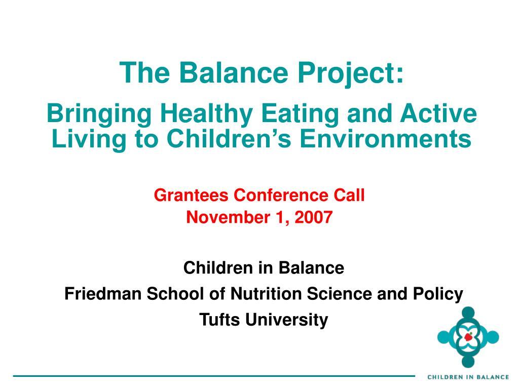 The Balance Project: