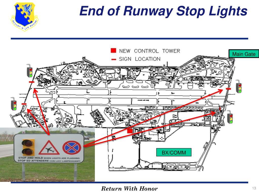 End of Runway Stop Lights