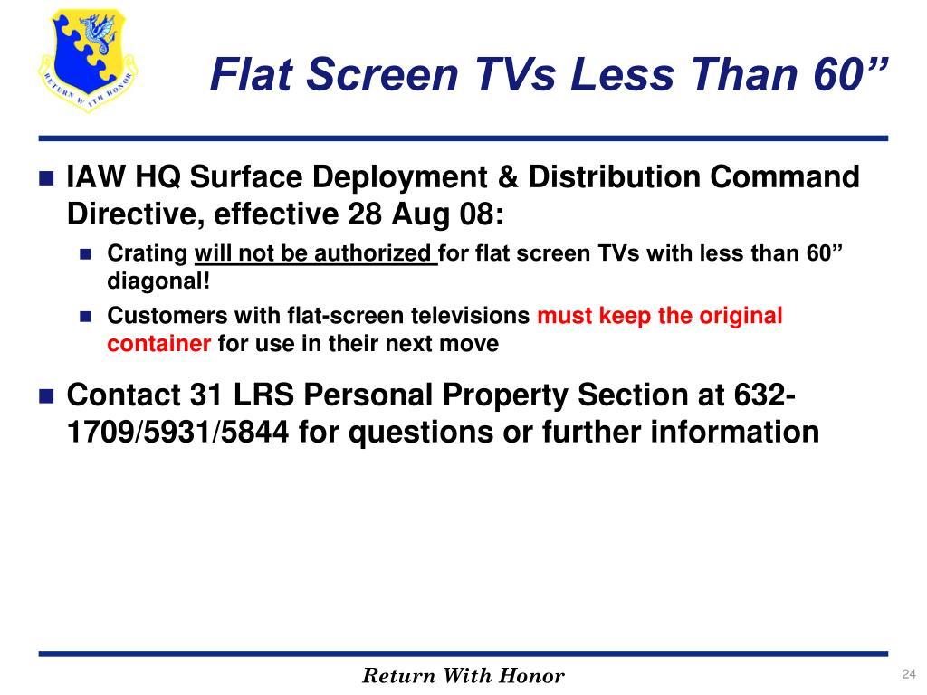 "Flat Screen TVs Less Than 60"""