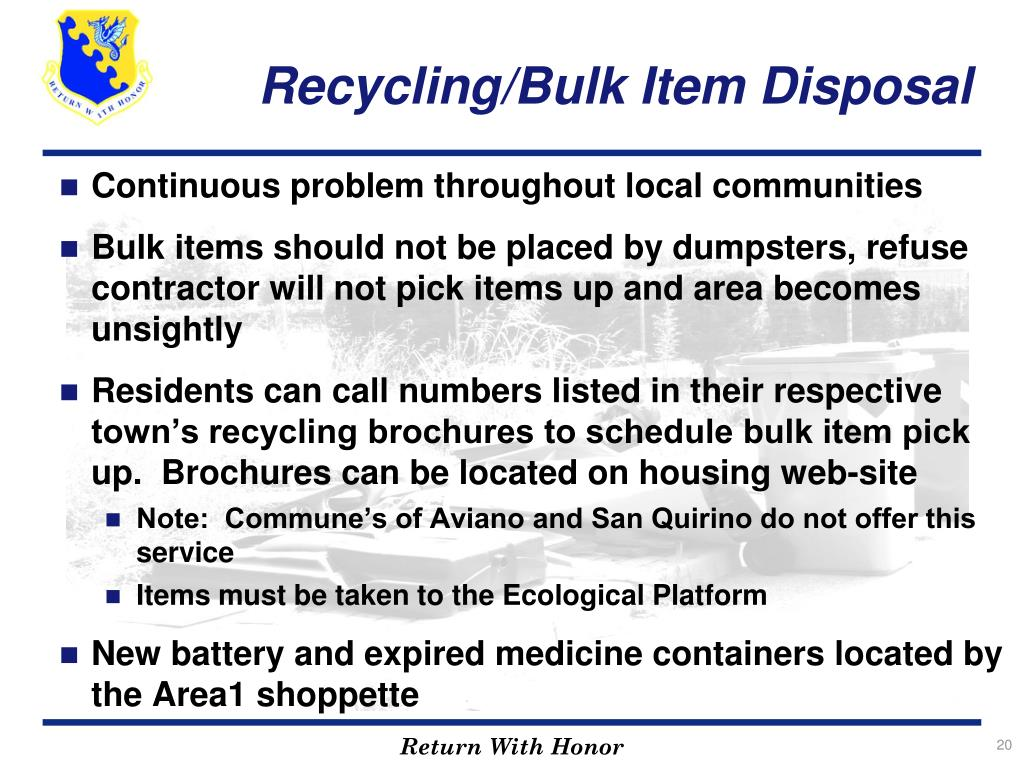 Recycling/Bulk Item Disposal