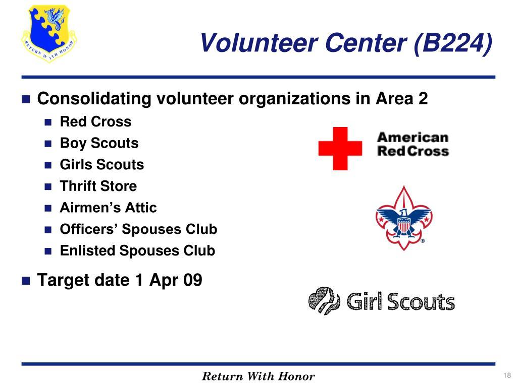 Volunteer Center (B224)