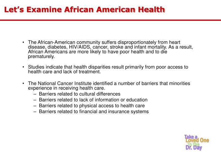 Let s examine african american health