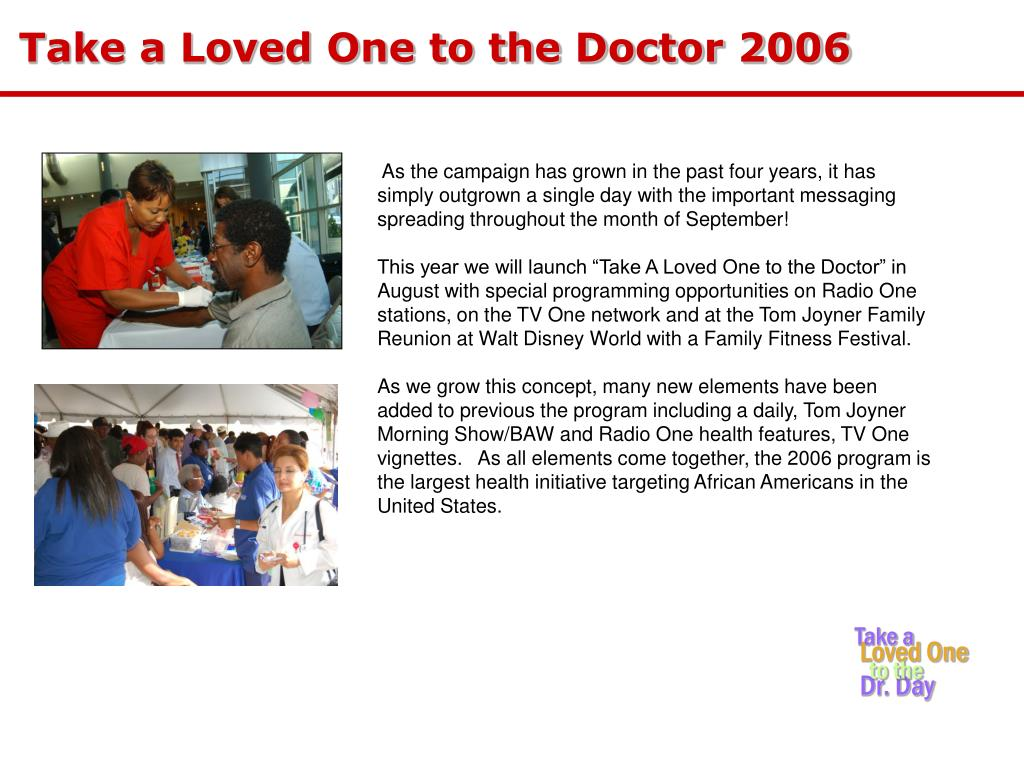 Take a Loved One to the Doctor 2006