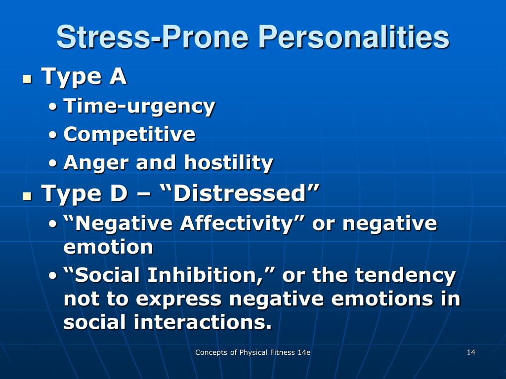 Stress-Prone Personalities