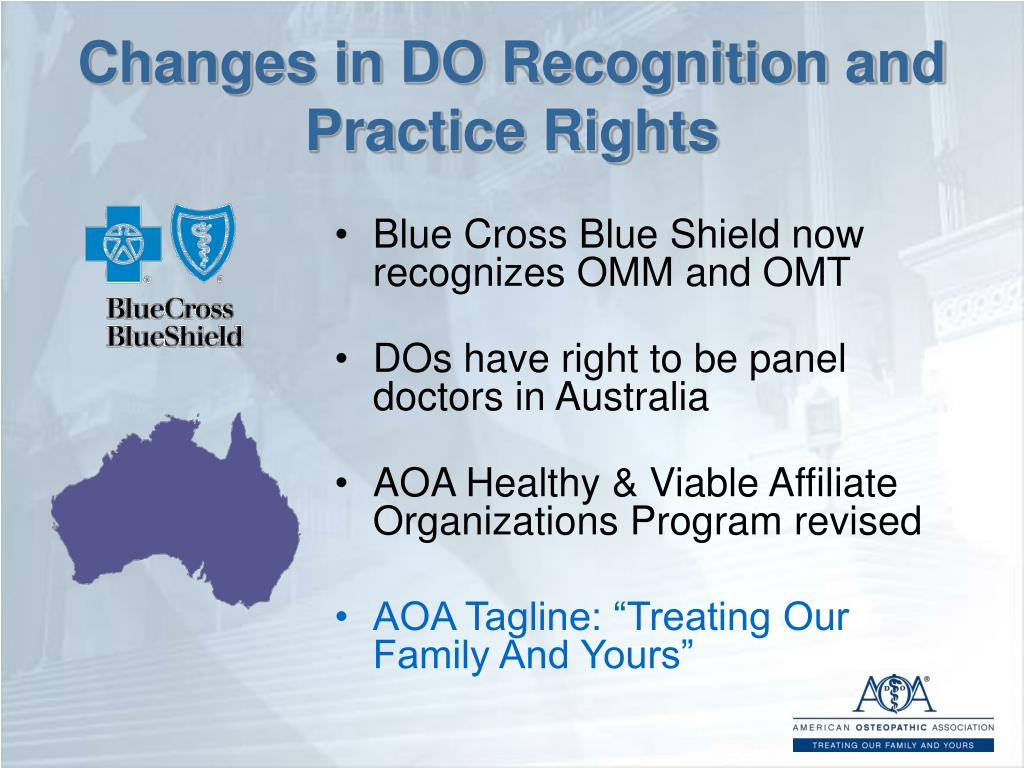 Changes in DO Recognition and Practice Rights