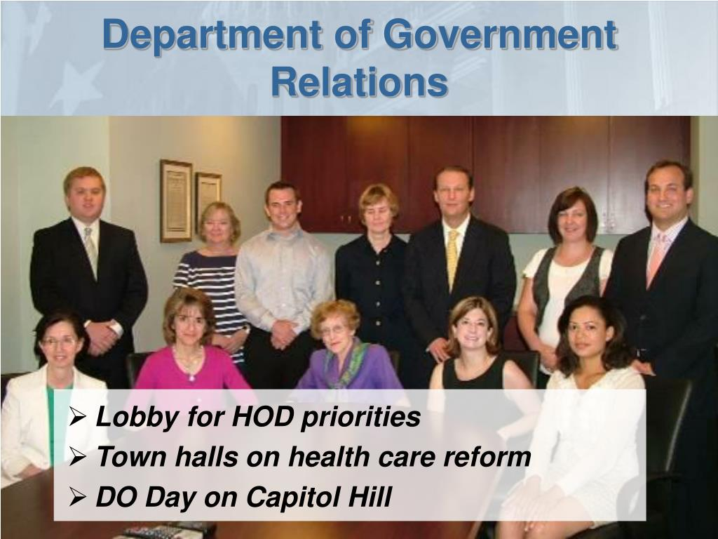 Department of Government Relations