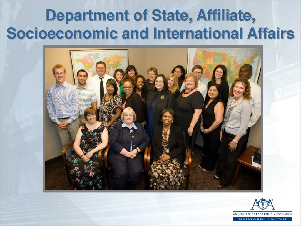 Department of State, Affiliate, Socioeconomic and International Affairs