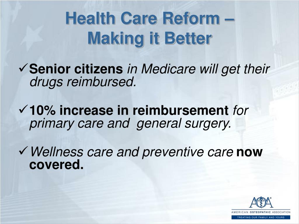 Health Care Reform –